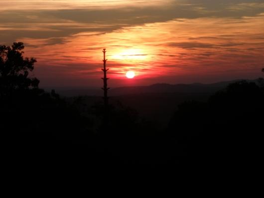 Sunset over San Bernardo de irogoyen